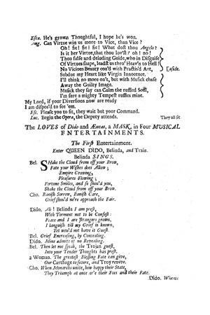 The Loves of Dido and Aeneas by Purcell