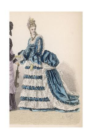 Blue and White Dress 1875