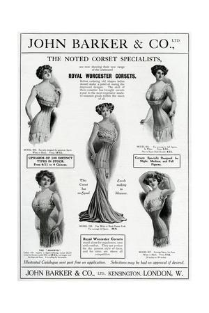 Advert for John Barker and Co, Corsets