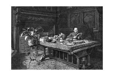 Emile Zola in His Study
