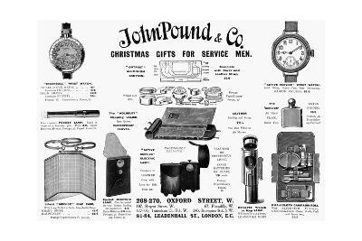 WW1 - Practical Gifts for the Soldier at the Front