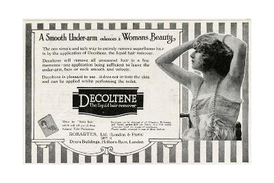 Advert for Decoltene Liquid Hair Remover 1920