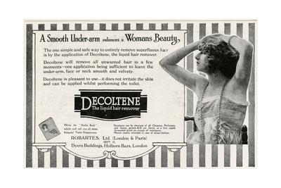 Advert for Decoltene Liquid Hair Remover 1920