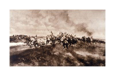 WWI, Uhlans Attack Convoy
