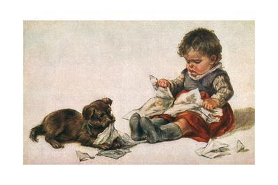 Dog, Boy and Book