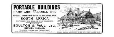 Portable Buildings Advertisement, 1902