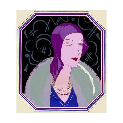 Woman in Purple Hat