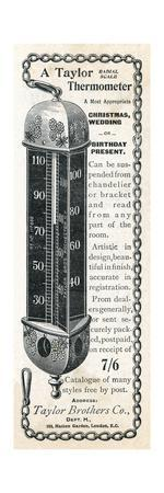 Taylor Thermometer, 1897