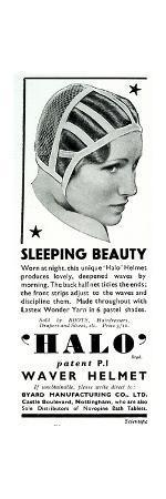 Advert for Halo Sleeping Cap 1936