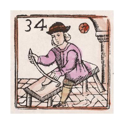C17 Shoemaker, Woodcut