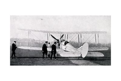 WW1 - Aviation at Hendon - Churchill Inspecting Aeroplanes