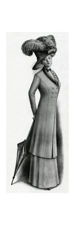 Woman Wearing 3, 4 Length Coat