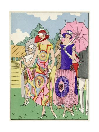Two Ladies in Outfits by Drecoll and Madeleine Et Madeleine
