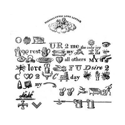 Rebus: a Hieroglyphic Love Letter