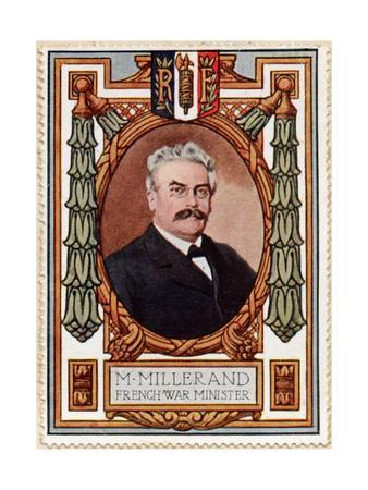 Alexandre Millerand, Stamp