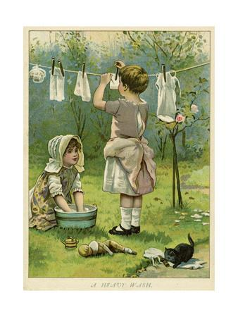 Dolls' Laundry C1890