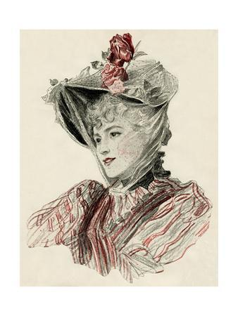 Woman Wearing Bonnet 1896