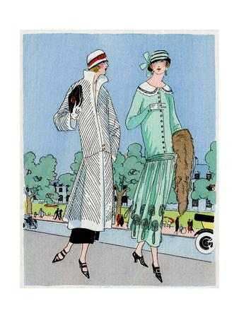 Two Ladies in Outfits by Jeanne Lanvin