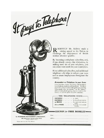 Advert for Using a Telephone