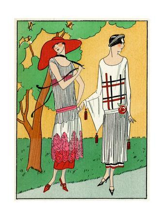 Two Ladies in Summer Outfits by Martial Et Armand