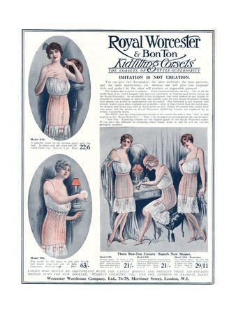 Advert for Royal Worcester Corsets 1922