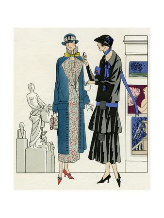 Two Women in Outfits by Bernard and Premet