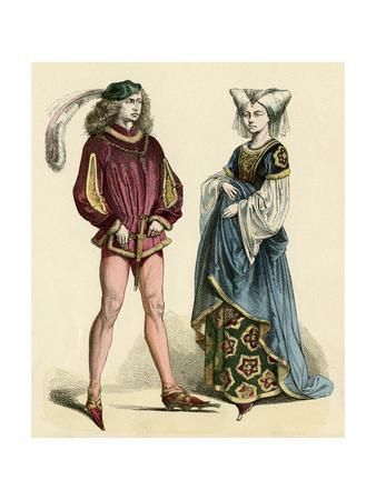 French Costumes 1475