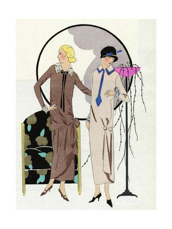 Two Women in Outfits by Premet