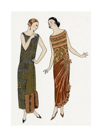 Evening Dresses by Drecoll, and Philippe and Gaston