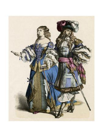 French Noble Pair 1680