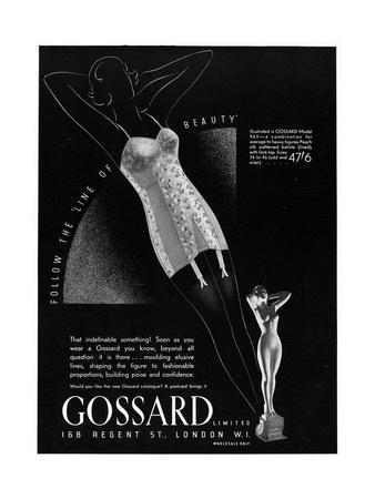 Advert for Gossard Corsets 1937