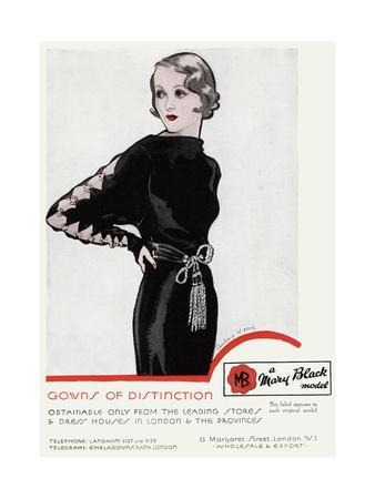 Advert for Mary Black Model 1934