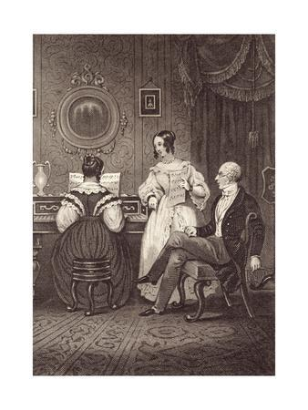 Music at Home - Round the Piano, C.1835