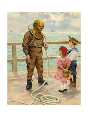 Diver and Children