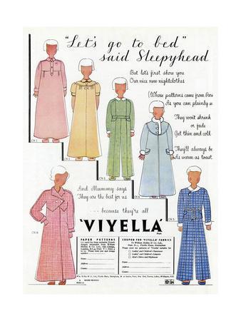Advert for Viyella Children's Sleepwear 1936