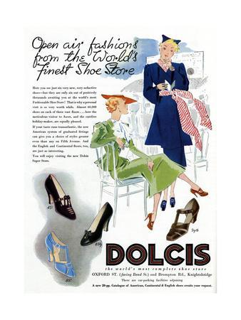Advert for Dolcis Shoes 1946