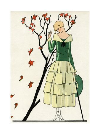 Young Lady in Dress by Paul Poiret