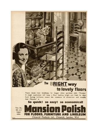 Advert for Mansion Polish