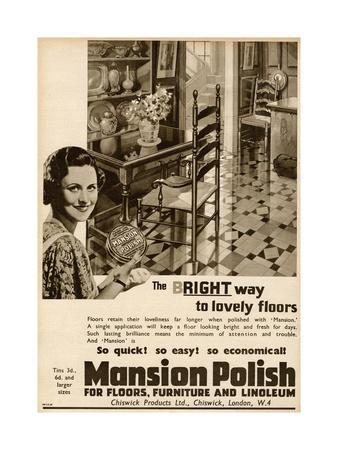 Advert for Mansion Polish