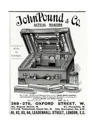 Advert for John Pound and Co Dressing Case 1914