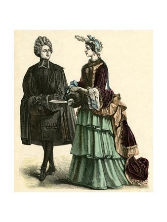 Abbe and Court Lady 1690S