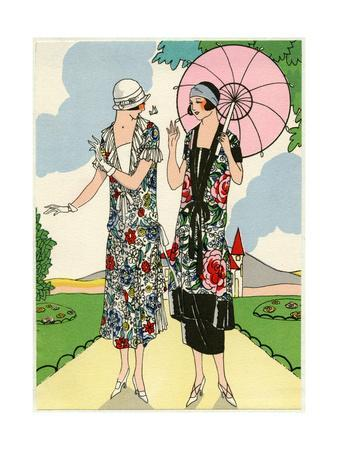 Two Young Ladies in Outfits by Doeuillet