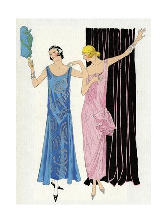 Two Women in Evening Dresses by Paul Poiret