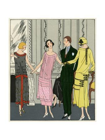 Three Women in Outfits by Doeuillet