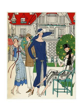 Three Ladies in Outfits by Jeanne Lanvin