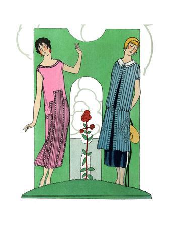 Two Ladies in Summer Outfits by Premet and Doeuillet
