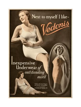 Advert for Vendonis Womens Underwear