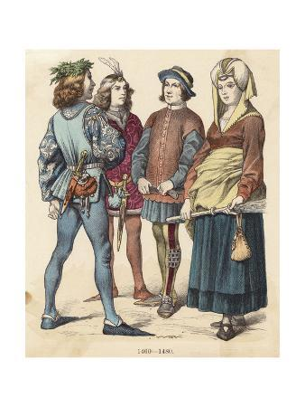 French Costumes 1460-80