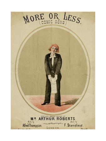Arthur Roberts, Music Hall Entertainer