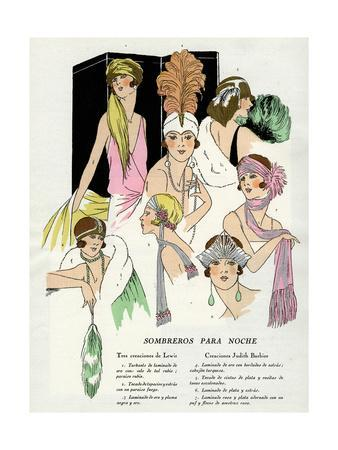 Evening Headwear by Lewis and Judith Barbier